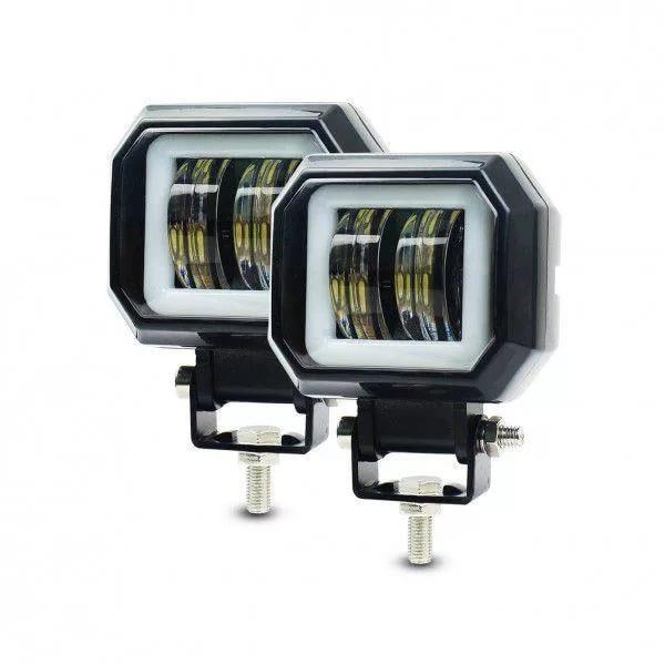 Фара светодиодная 20W 12-24V квадратная