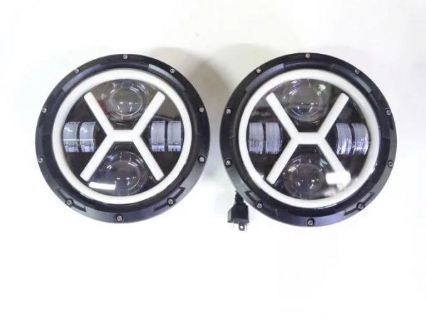 Фары головные 7 дюймов - 178 мм, светодиодные LED мощность 60W